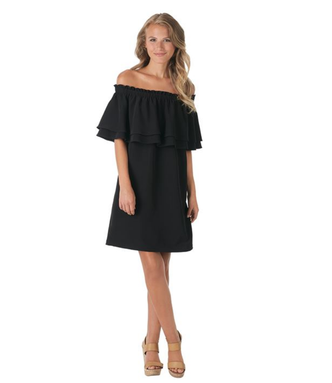 Pippa Off the Shoulder Dress Black Large