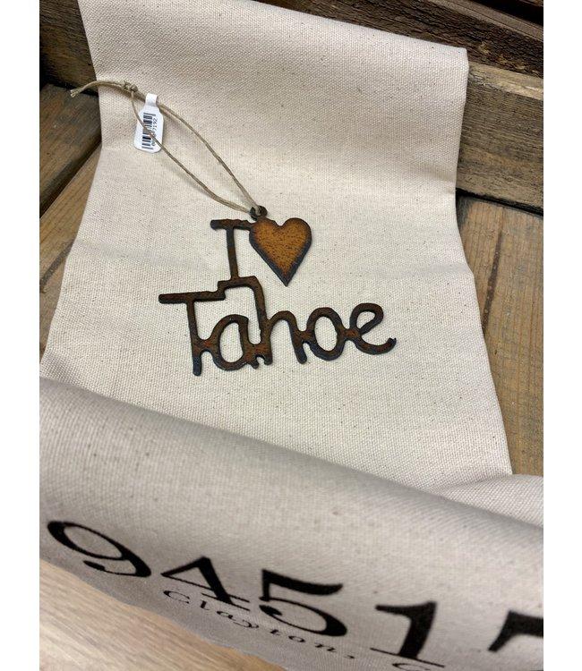 I (heart) Tahoe Iron Ornament