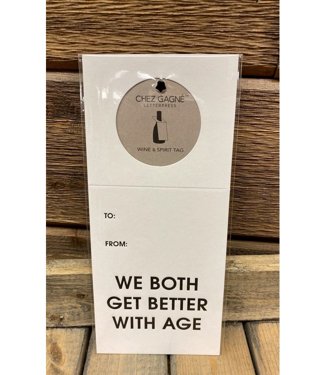 Better with Age Wine and Spirits Tag