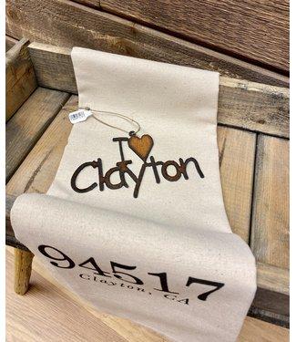 I (heart) Clayton Iron Ornament