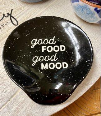 Good Food Good Mood Ceramic Spoon Rest