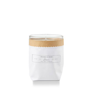 Magnolia Home MH Kraft-Textured Candle, Bloom