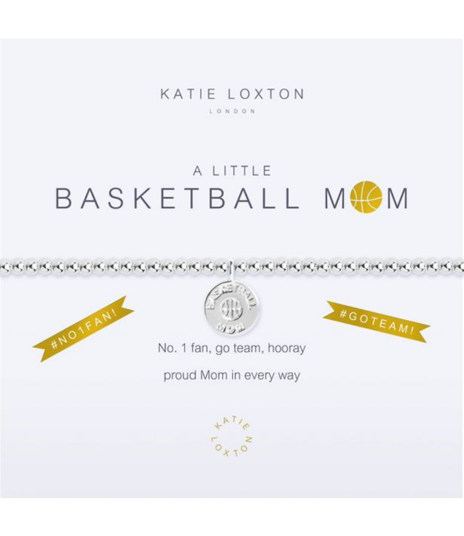a little BASKETBALL MOM - bracelet
