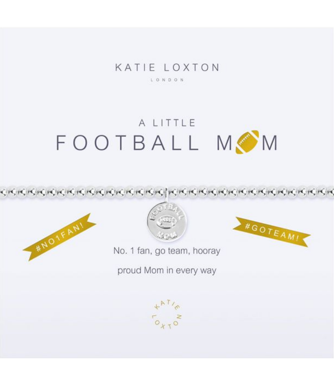 a little FOOTBALL MOM - bracelet