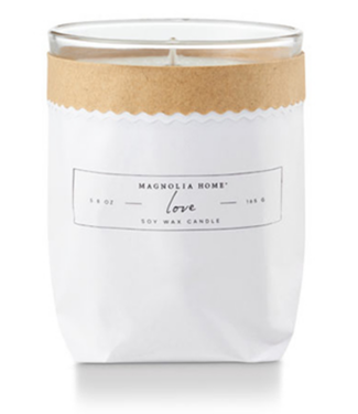 Magnolia Home MH Kraft-Textured Candle, Love
