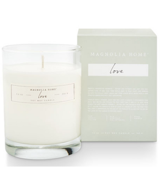 Magnolia Home MH Boxed Glass Candle, Love