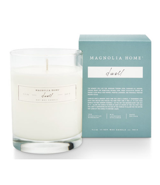 Magnolia Home MH Boxed Glass Candle, Dwell
