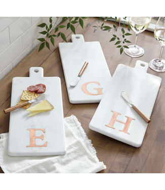 Mud Pie Initial Marble & Copper Board Sets