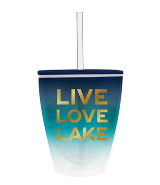 Double Wall DOF Live Love Lake  10 oz