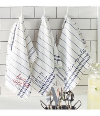 Mud Pie Bistro Embroidered Dish Towels