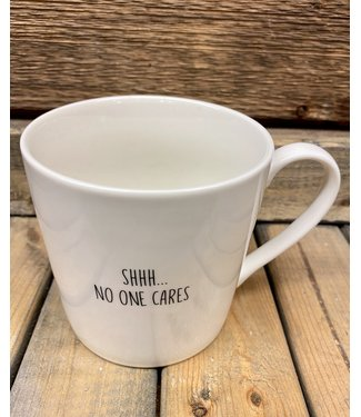 Cafe Mug - No One Cares