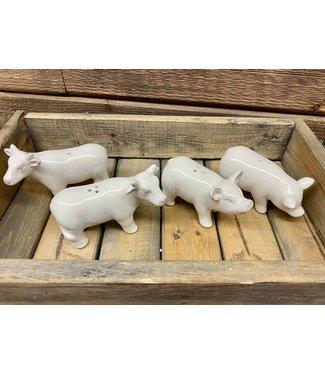 Pig or Cow Salt & Pepper Set
