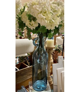 Mud Pie Blue Tall Vase with Handle