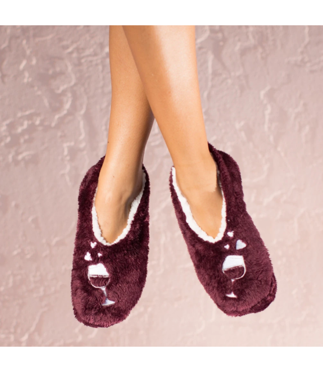 Wine Lover Footsie Slippers