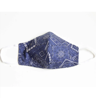 Face Mask with Filter - Bandana - BLUE