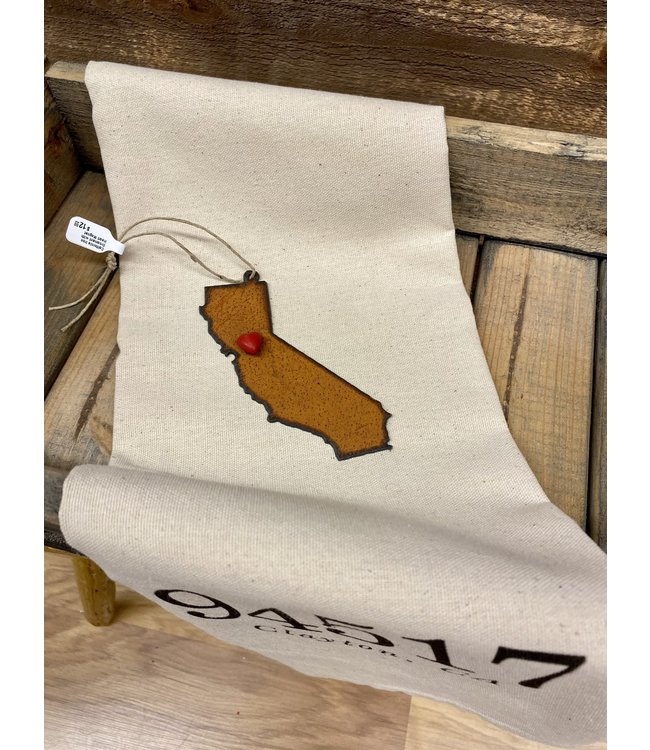 California Iron Ornament with Heart Magnet