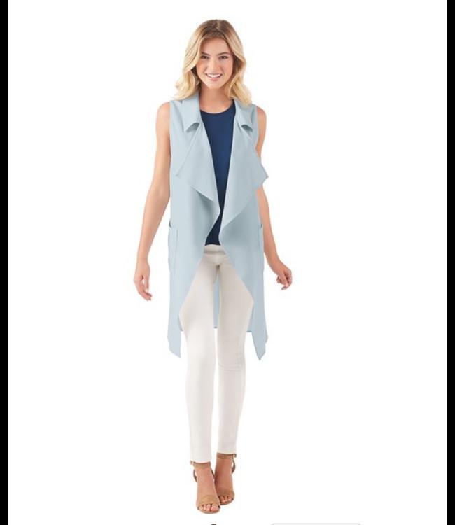 Coco Collared Vest Blue
