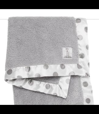 New Dot Chenille Blanket SIlver