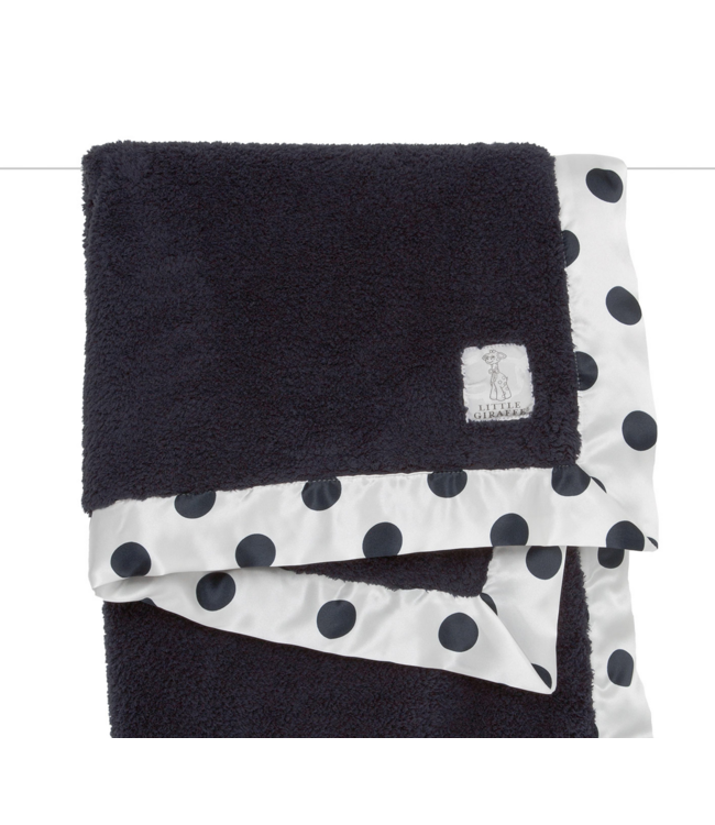 New Dot Chenille Blanket Denim
