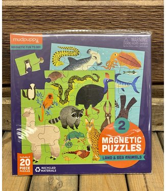 Puzzle Magnetic Land & Sea Animals