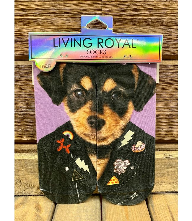 Punk Dog Glow in the Dark Glitter Sock