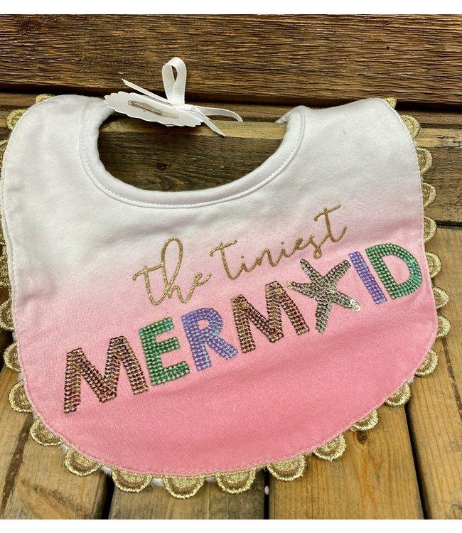 Mud Pie Mermaid Ombre Bib Pink