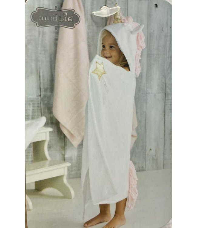 Mud Pie Unicorn Hooded Towel