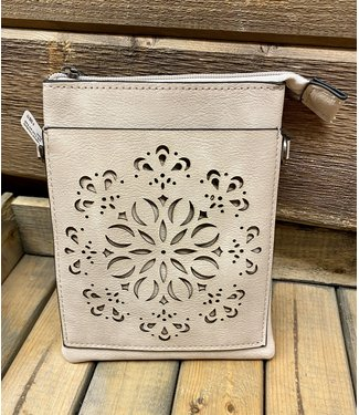 Lasercut Crossbody with Front and Back Pouch