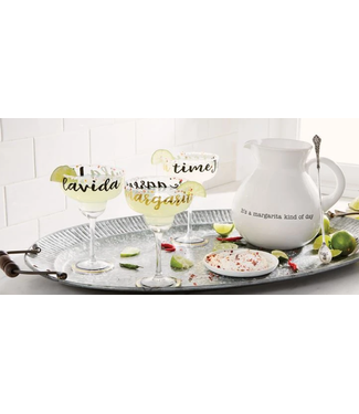 Mud Pie Living La Vida Margarita Glass