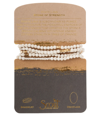 Wrap Bracelet White Lava-Stone of Strength