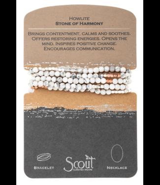 Wrap Bracelet Howlite -Stone of Harmony