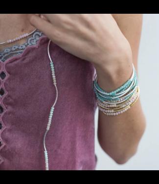 Wrap Bracelet Turquoise-Matte Silver