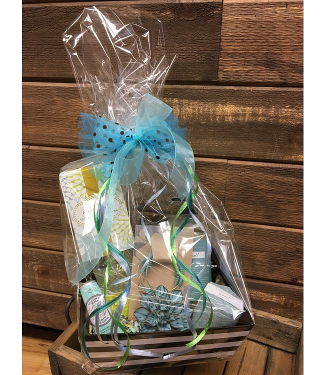 Mother's Day Gift Basket Blue