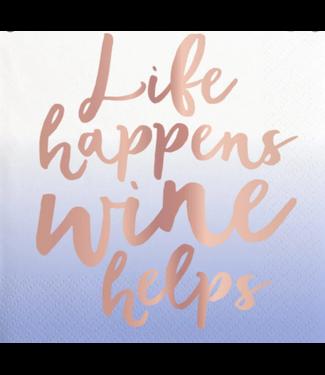 Wine Helps Bev Napkin 20ct