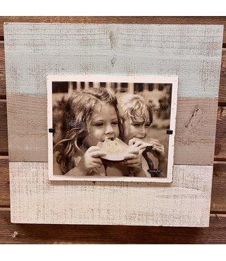 """18"""" Grey White Blue Deluxe Frame"""