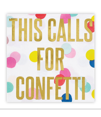 Calls for Confetti Bev Napkin 20ct