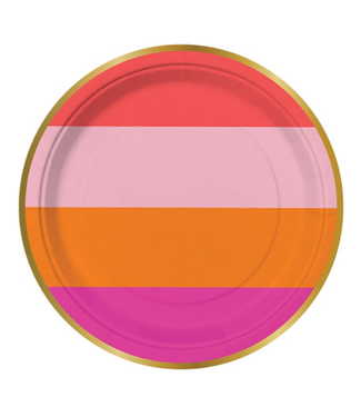 Stripe Paper Plate 7in 8CT