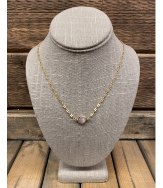 Large Link Chain Abalone Necklace