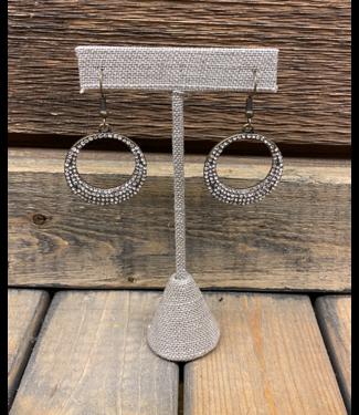 Crystal Inlay Hoop Earring