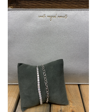 Sparkling Silver Links Bracelet