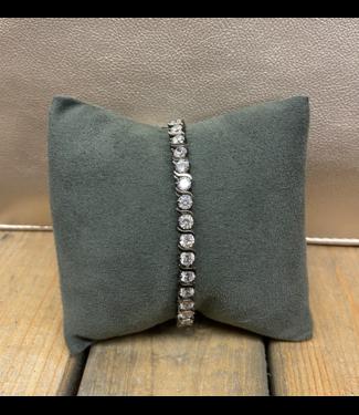 Pewter Crystal Bracelet