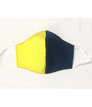 Face Mask with Filter - Yellow/Navy Two Tone