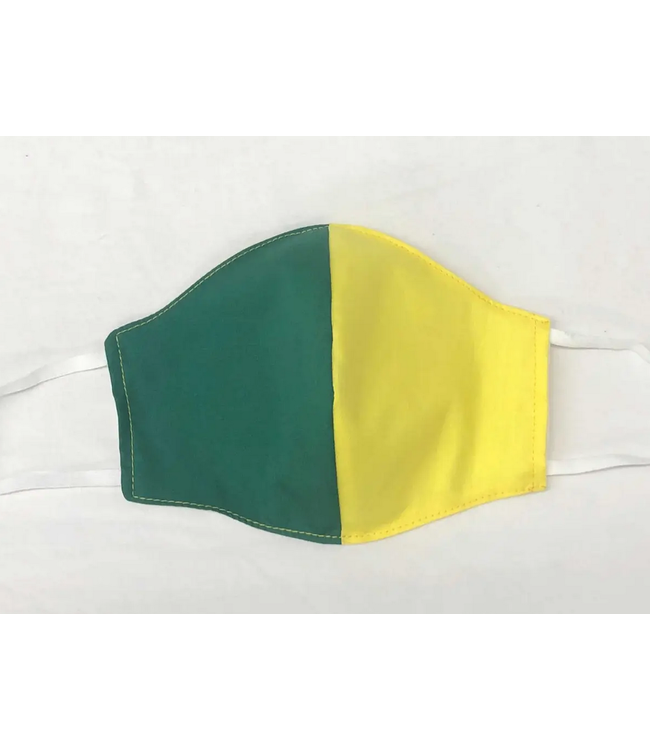 Face Mask with Filter - Yellow and Green Two Tone