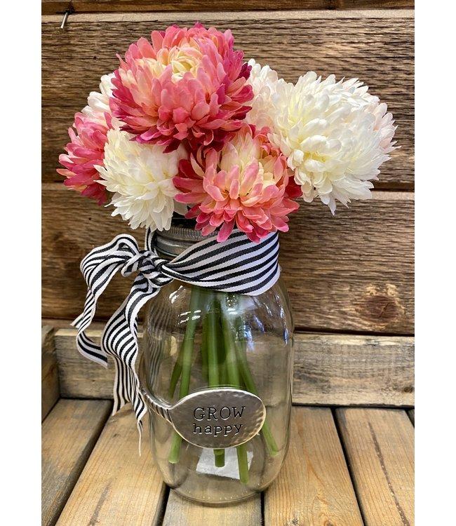 Custom Floral Arrangement in GROW happy Vase