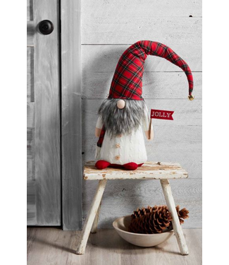 Mud Pie EXTRA LARGE TARTAN GNOME