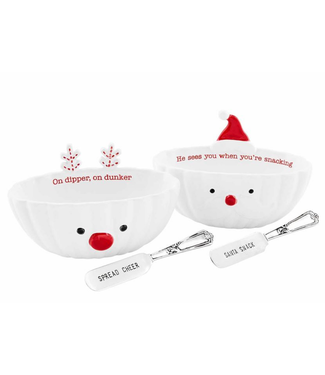 Mud Pie Christmas Dip Bowl Set