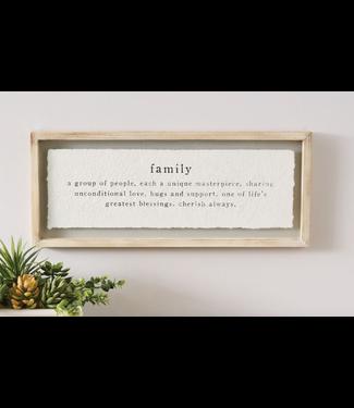 Mud Pie Family Definition Glass Plaque