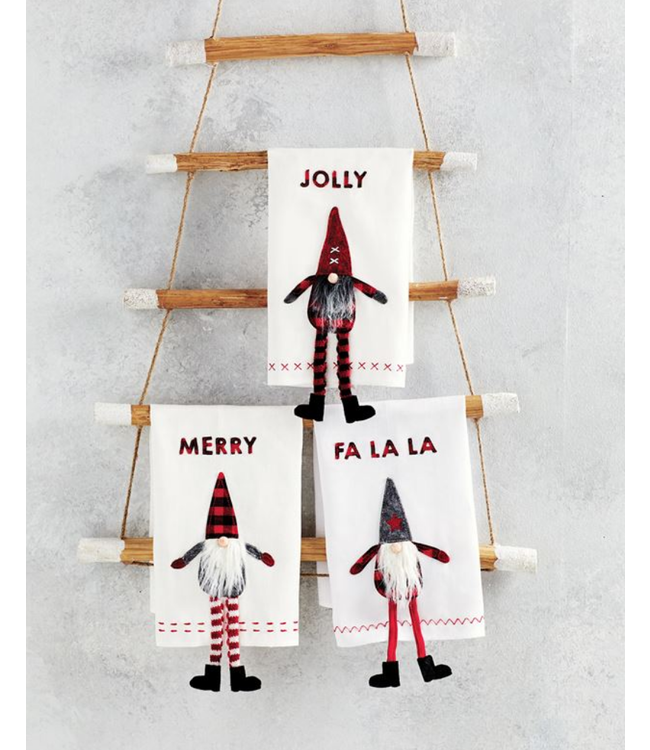Mud Pie Dangle Leg Gnome Towels