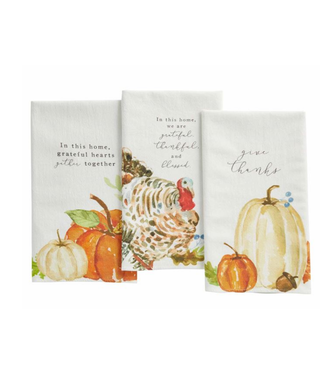 Mud Pie Fall Watercolor Dish Towel