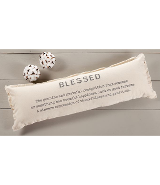 Mud Pie BLESSED LONG PILLOW